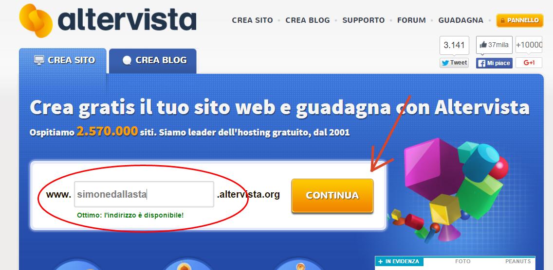 database altervista