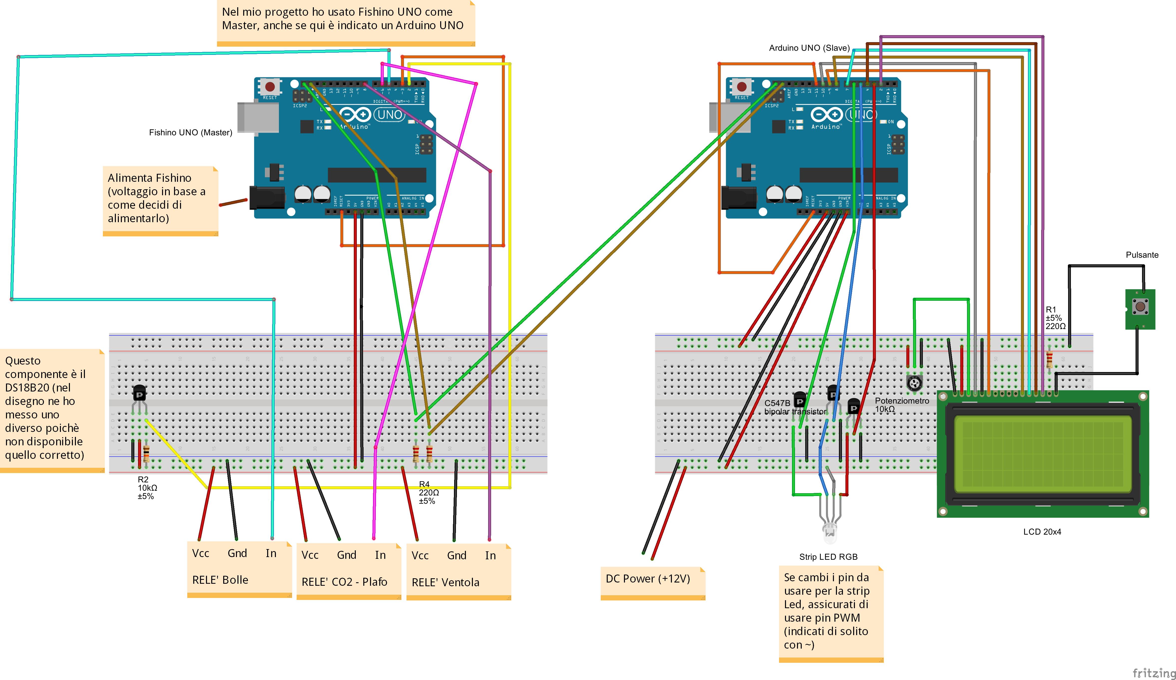 Circuito Uno Web : Acquario controllato da fishino arduino based simone